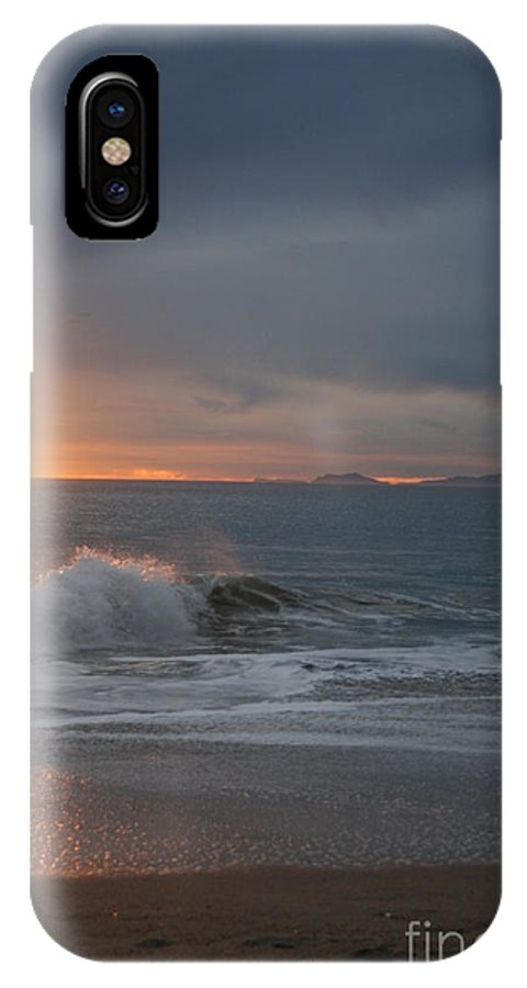 Landscape IPhone X / XS Case featuring the photograph Point Mugu 1-9-10 Sun Setting With Surf by Ian Donley
