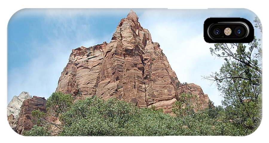 Rock IPhone X Case featuring the photograph Pointed Rock by Mari Gates