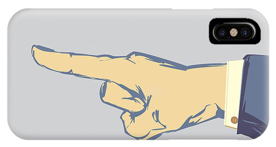 Business IPhone X Case featuring the photograph Pointing Finger Vector by Tim Hester
