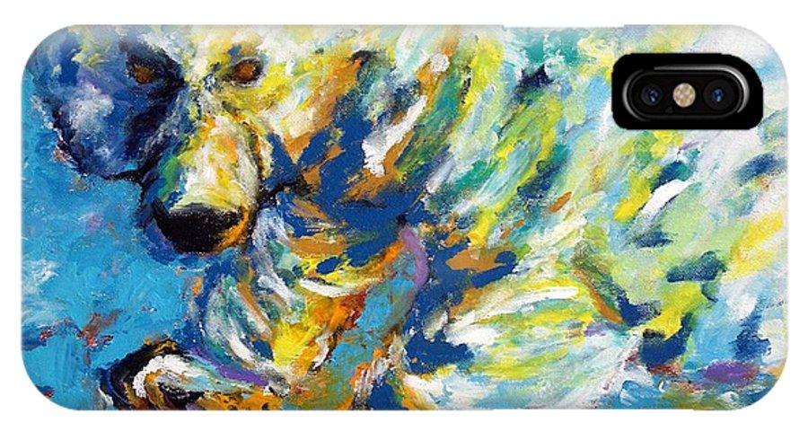 Polar Bear IPhone X Case featuring the painting Polar Bear by Lidija Ivanek - SiLa