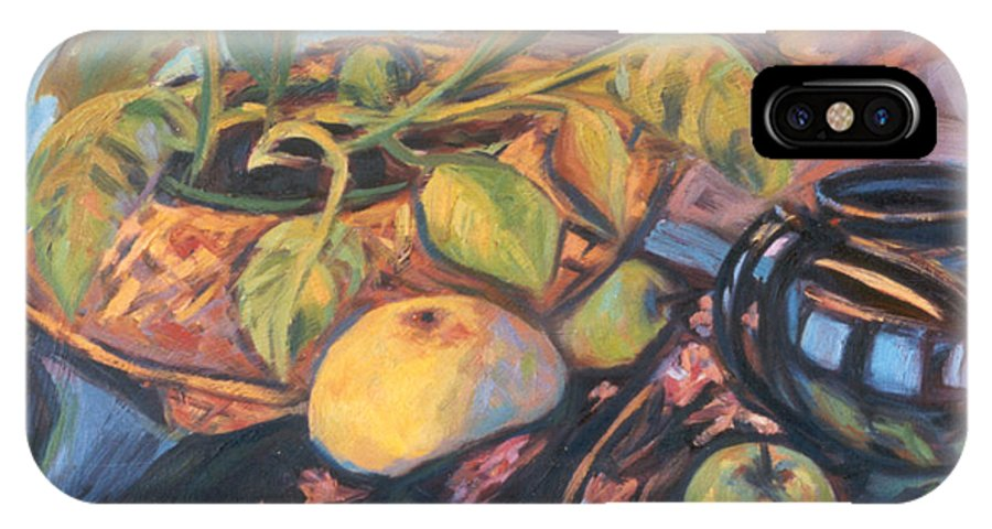 Still Life IPhone Case featuring the painting Pollys Plant by Kendall Kessler