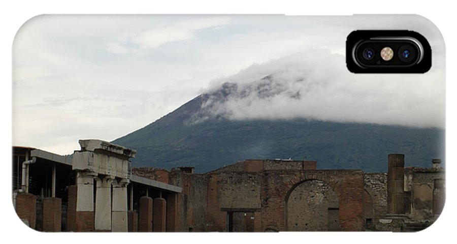 Pompeii IPhone X Case featuring the photograph Pompeii And Vesuvius by Deborah Smolinske