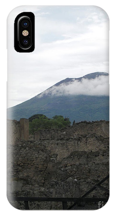Pompeii IPhone X Case featuring the photograph Pompeii Beneath Vesuvius by Deborah Smolinske