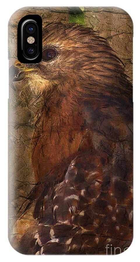 Hawk IPhone X / XS Case featuring the photograph Ponce Inlet Hawk by Deborah Benoit