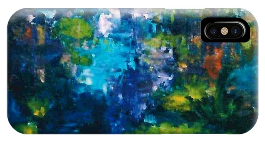 Lyle IPhone X Case featuring the painting Pond by Lord Frederick Lyle Morris - Disabled Veteran