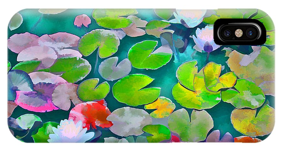 Pond Lilies IPhone X Case featuring the photograph Pond Lily 5 by Pamela Cooper