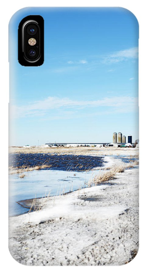 Pond IPhone X Case featuring the photograph Pond Or Field by Tracy Winter