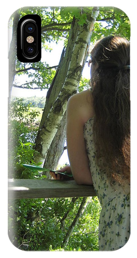 Pondering IPhone X Case featuring the photograph Pondering by Melissa McCrann