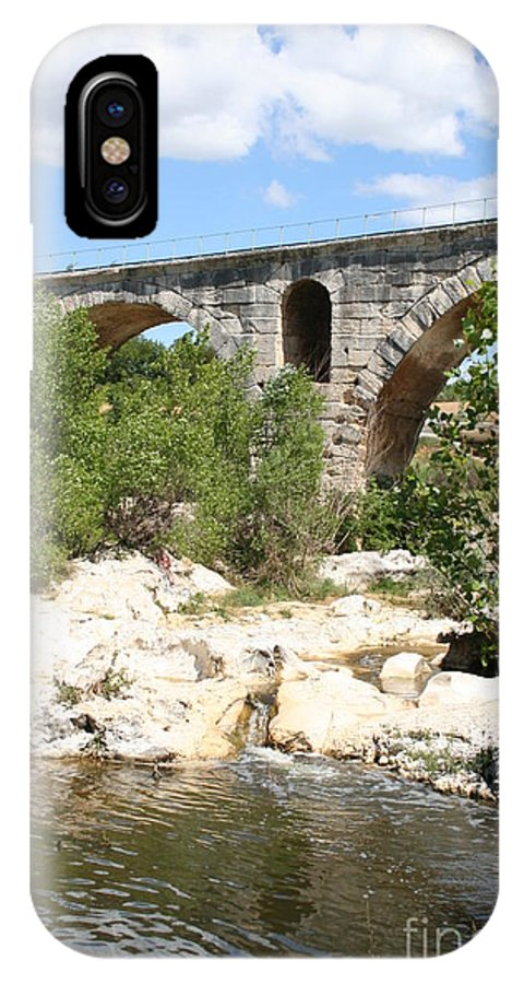 Roman Stonebridge IPhone X Case featuring the photograph Pont St. Julien And River by Christiane Schulze Art And Photography