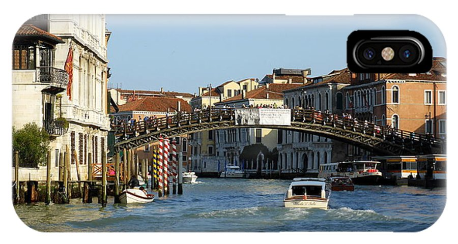 Venice IPhone X Case featuring the photograph Ponte Dell Accademia by Bishopston Fine Art