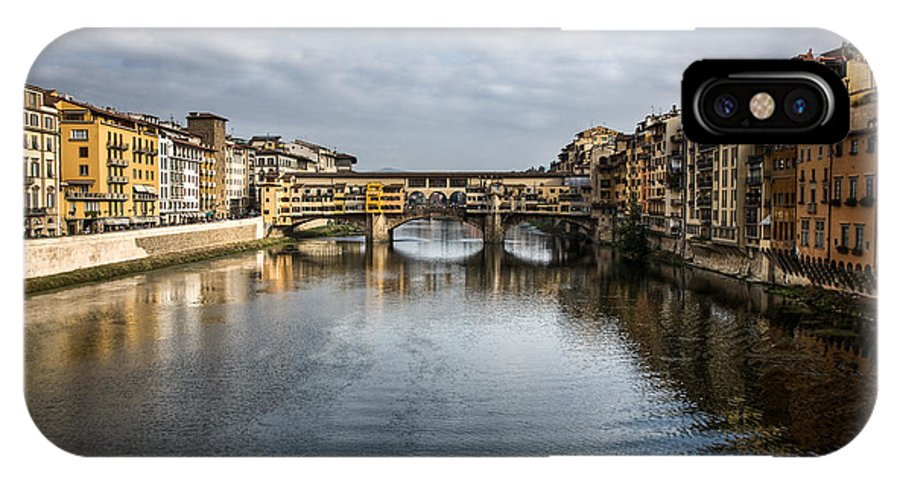 Italy IPhone X Case featuring the photograph Ponte Vecchio by Dave Bowman