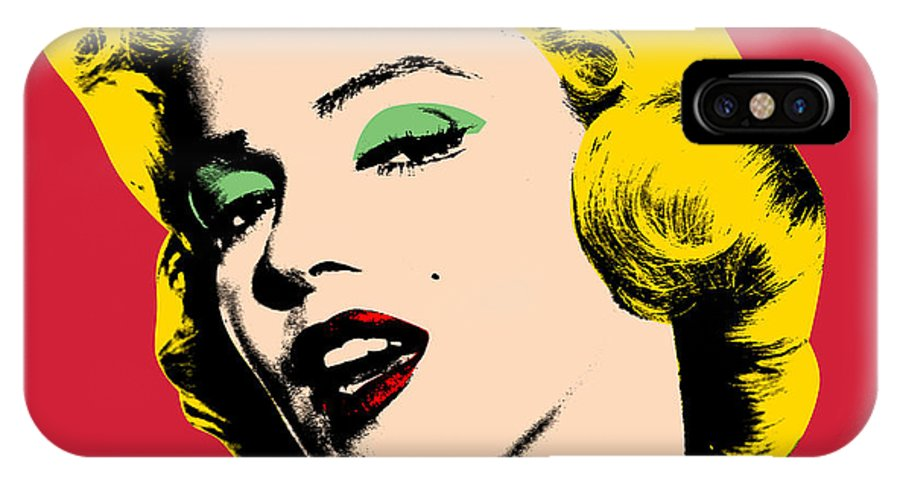 Pop Art IPhone X Case featuring the painting Pop Art by Mark Ashkenazi