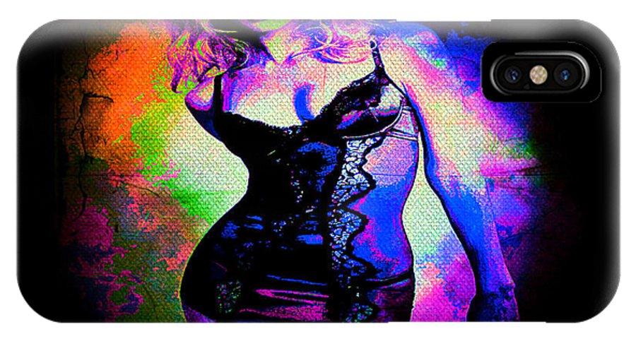 Pop Art IPhone X Case featuring the digital art Pop Art Sexy Lingerie by Absinthe Art By Michelle LeAnn Scott