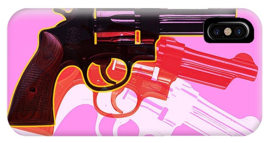 Digital IPhone X Case featuring the digital art Pop Handgun by Gary Grayson