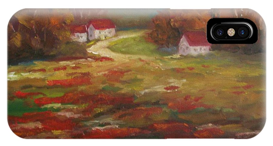 Field Of Poppies IPhone X Case featuring the painting Poppies by Ellen Ebert
