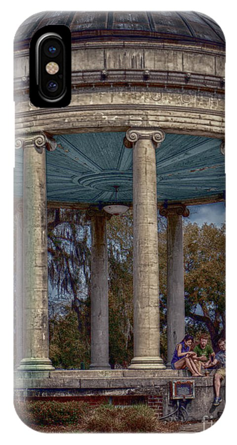 Columns IPhone X / XS Case featuring the photograph Popps Bandstand In City Park Nola by Kathleen K Parker