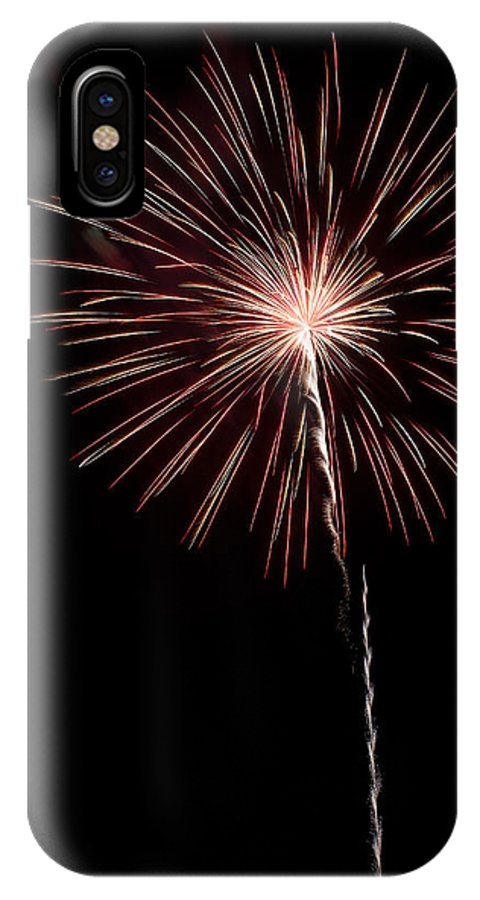 Fireworks IPhone X Case featuring the photograph Pops In The Park 1 by Lone Dakota Photography