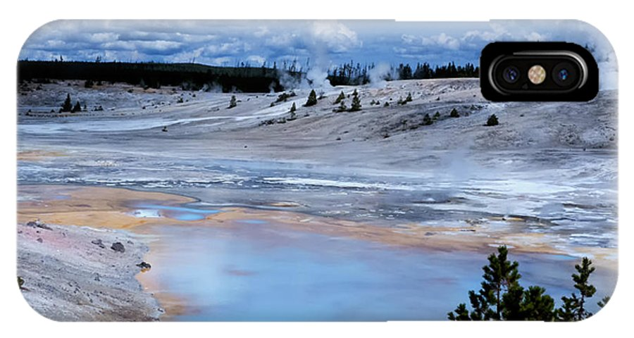 Porcelin Basin Norris Geyser Basin IPhone X Case featuring the photograph Porcelin Basin by Carolyn Fox