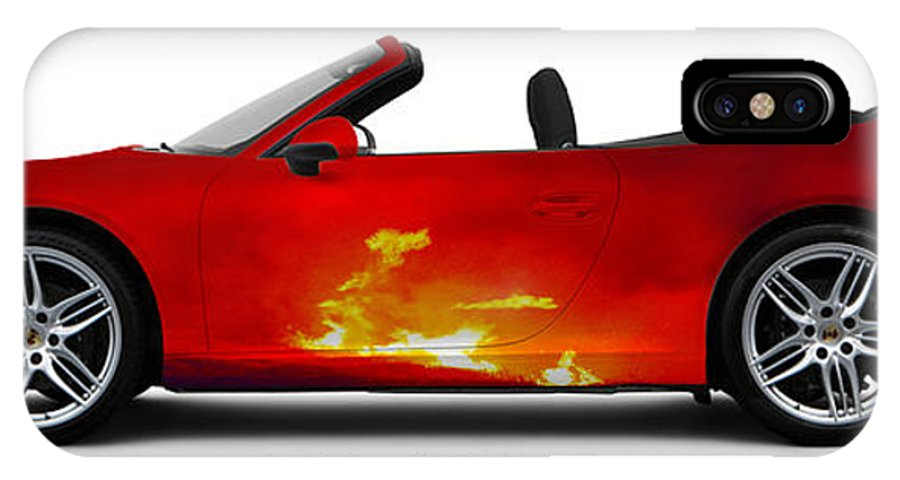 Car IPhone X Case featuring the photograph Porsche 911 by Art Faul