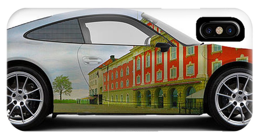 Car IPhone X Case featuring the photograph Porsche 911 Elite Hotel Joenkoeping by Art Faul