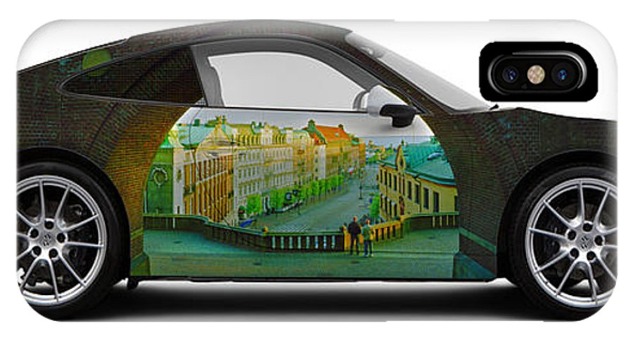Car IPhone X Case featuring the photograph Porsche 911 Helsingborg Port by Art Faul