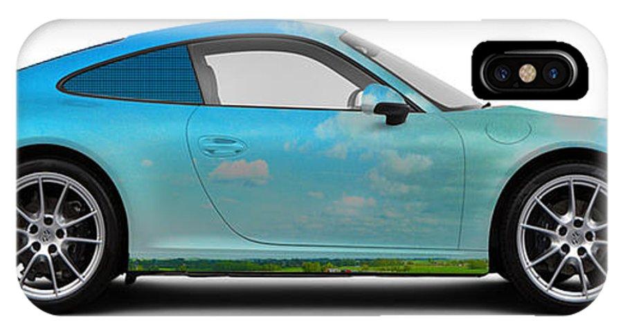 Car IPhone X Case featuring the photograph Porsche 911 Skaane Skies by Art Faul