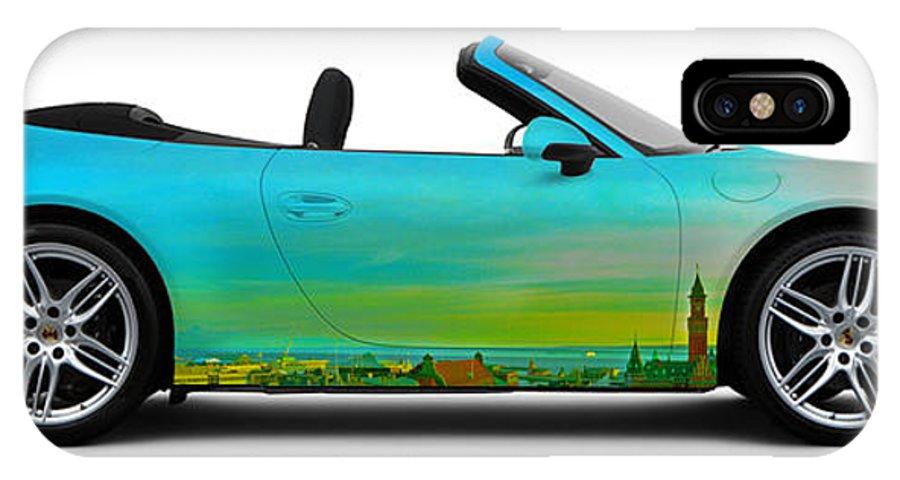 Car IPhone X Case featuring the photograph Porsche 911 Sunset Over Sweden by Art Faul