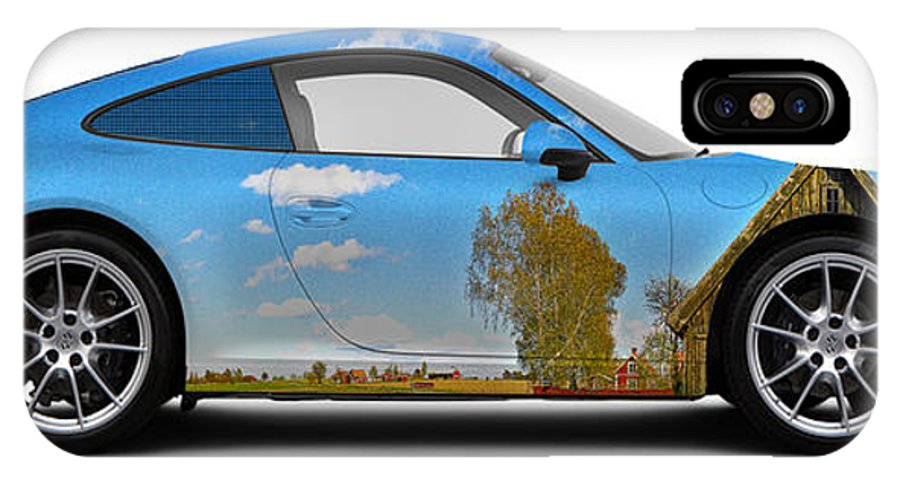 Car IPhone X Case featuring the photograph Porsche 911 Visingsoe Barn by Art Faul