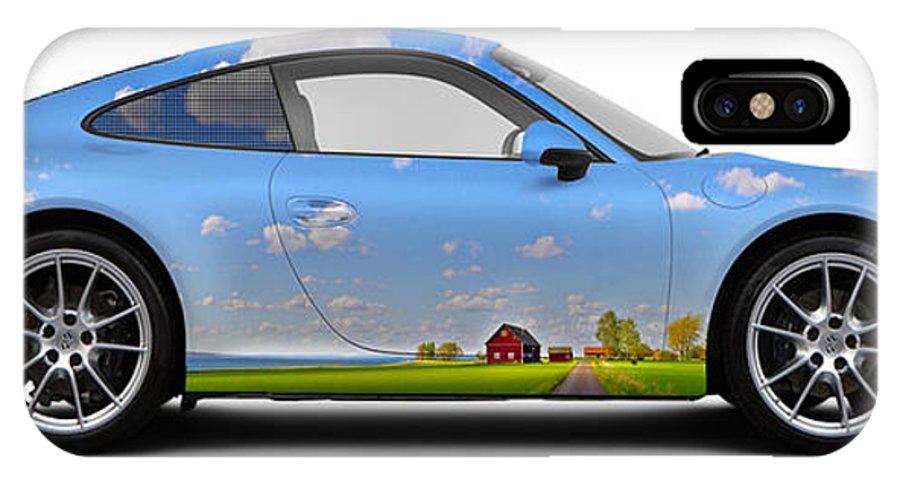 Car IPhone X Case featuring the photograph Porsche 911 Visingsoe Roenaes by Art Faul
