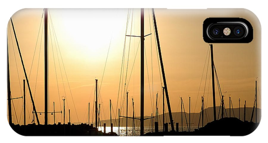 Sailing IPhone X Case featuring the photograph Port Of Call - The Great Salt Lake by Steven Milner