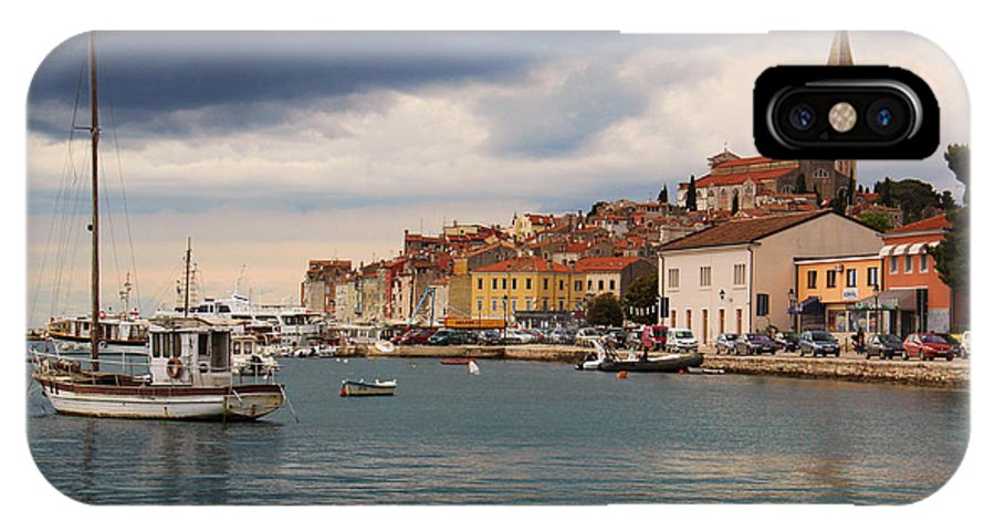 Waterfront IPhone X / XS Case featuring the photograph Port Of Rovinj by Michelle Tinger