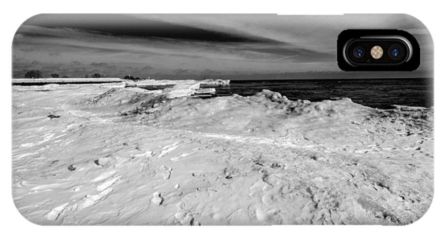 South Beach IPhone X Case featuring the photograph Port Washington - South Beach B-w by Susan McMenamin