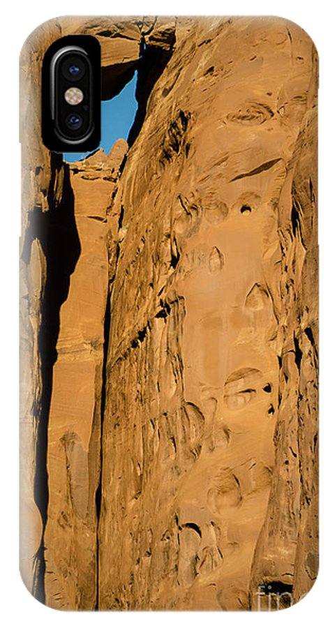 Stone IPhone X Case featuring the photograph Portal Through Stone by Jeffrey Kolker