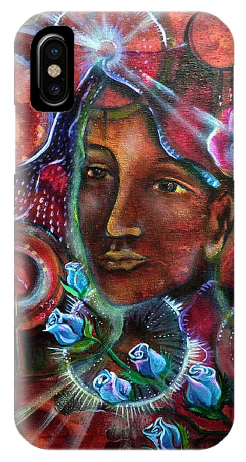 IPhone X Case featuring the painting Portals Of Change by Crystal Charlotte Easton