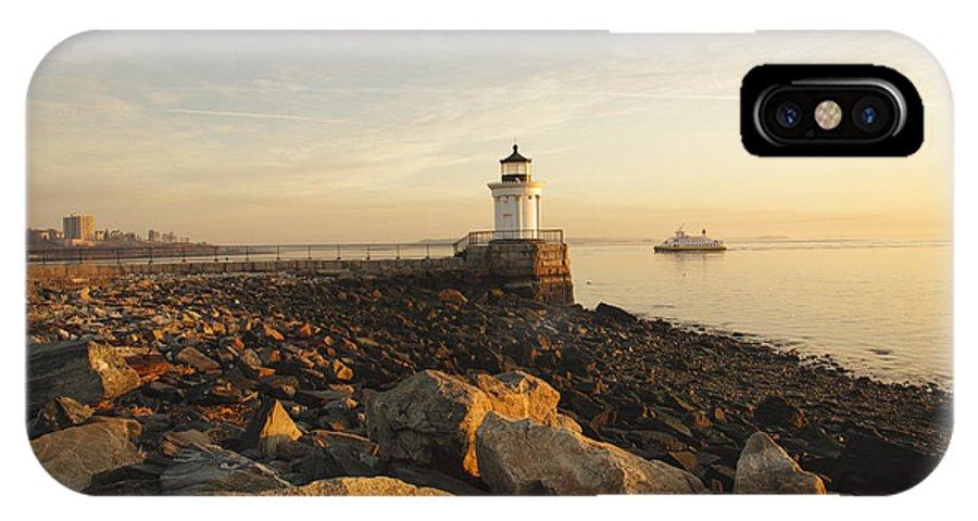 Atlantic Ocean IPhone Case featuring the photograph Portland Breakwater Light - Portland Maine by Erin Paul Donovan