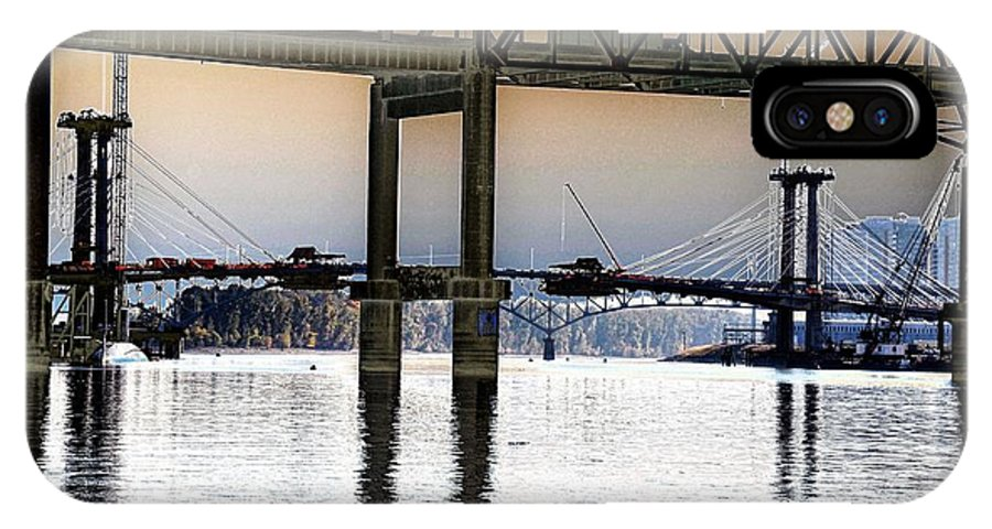 Portland IPhone X Case featuring the photograph Portland Bridges by Rich Bodane