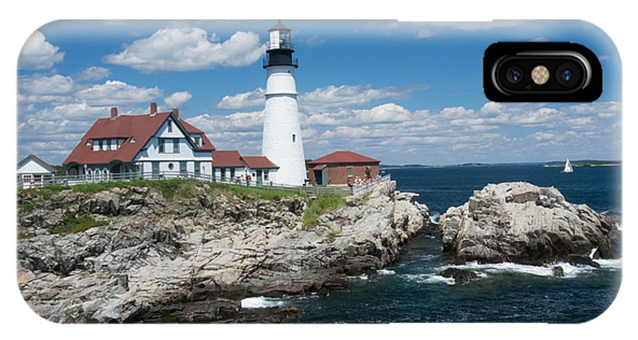 Buildings IPhone X Case featuring the photograph Portland Headlight 0219 by Guy Whiteley