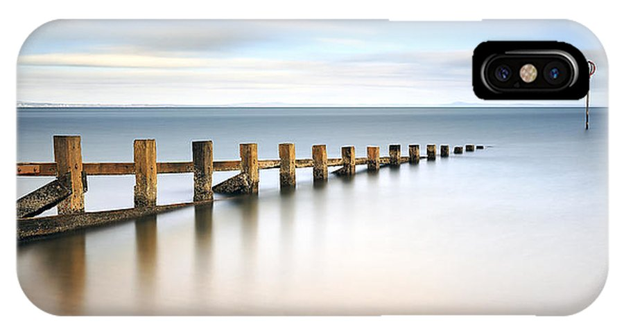 Seascape IPhone X Case featuring the photograph Portobello Groynes by Grant Glendinning
