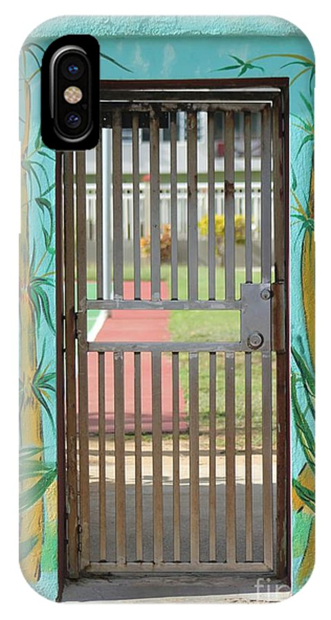 Gate IPhone X Case featuring the photograph Porton Cerrado by The Art of Alice Terrill