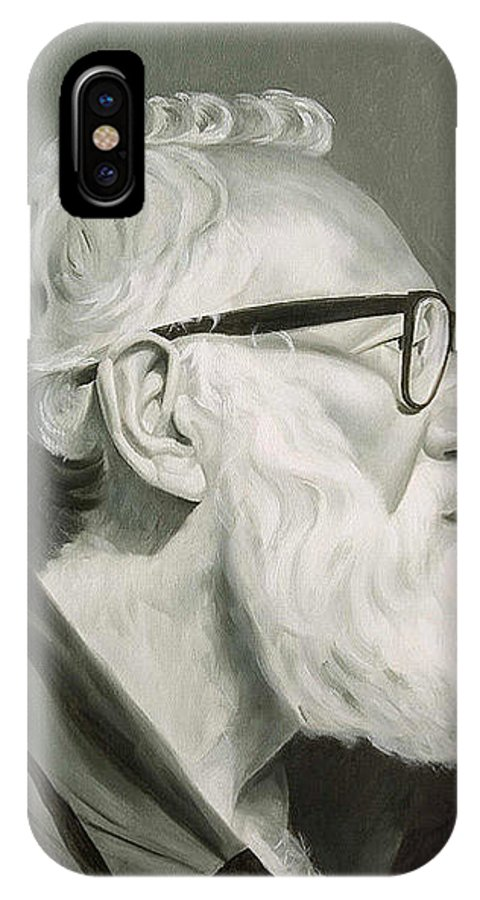 Portrait IPhone Case featuring the painting Portrait In Grisaille by Gary Hernandez
