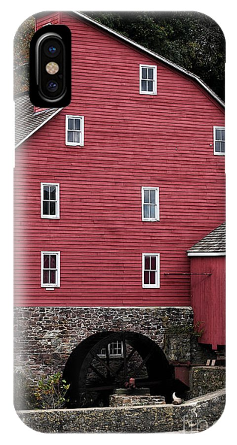Portrait Of A Red Mill IPhone X Case featuring the photograph Portrait Of A Red Mill by John Rizzuto