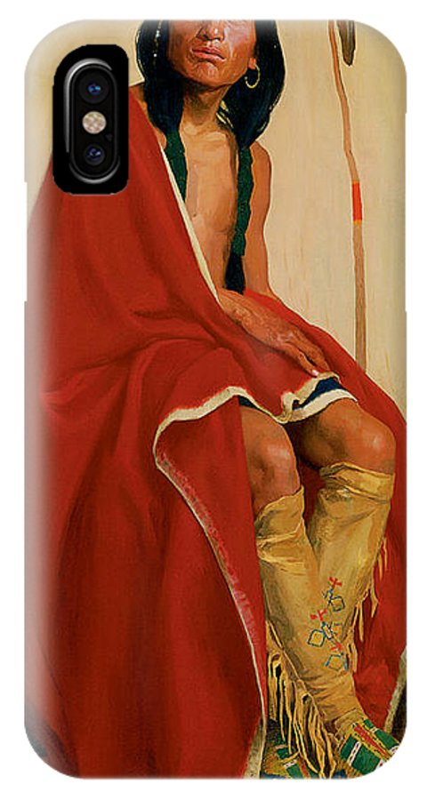 Eanger Irving Couse IPhone X / XS Case featuring the photograph Elk Foot Of The Taos Tribe by Eanger Irving Couse