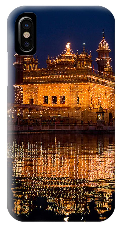 Golden Temple IPhone X Case featuring the photograph Portrait Of Golden Temple At Night by Devinder Sangha