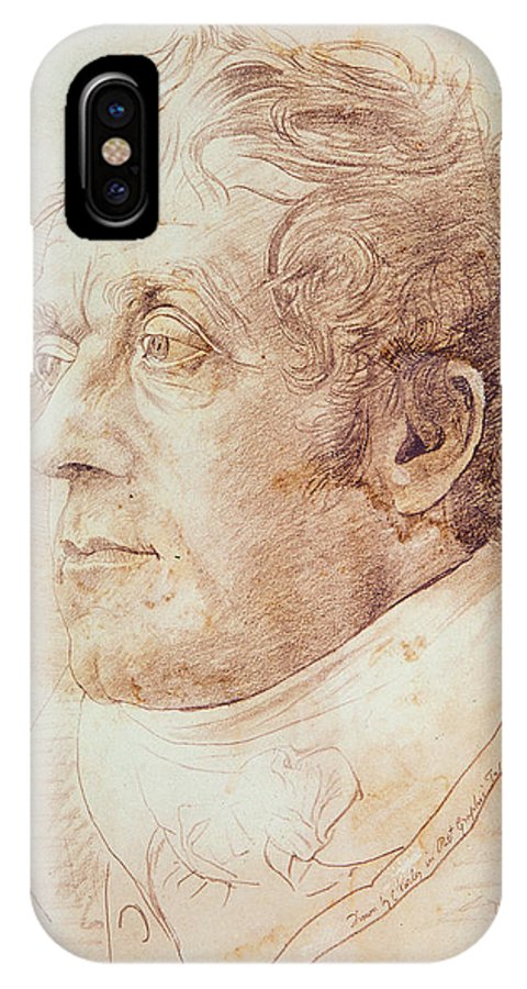 Portrait Of J.m.w. Turner IPhone X / XS Case featuring the drawing Portrait Of Jmw Turner by Cornelius Varley