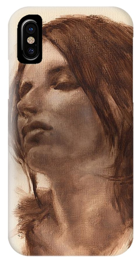 Figurative IPhone X Case featuring the painting Portrait Study 2 by Stuart Gilbert