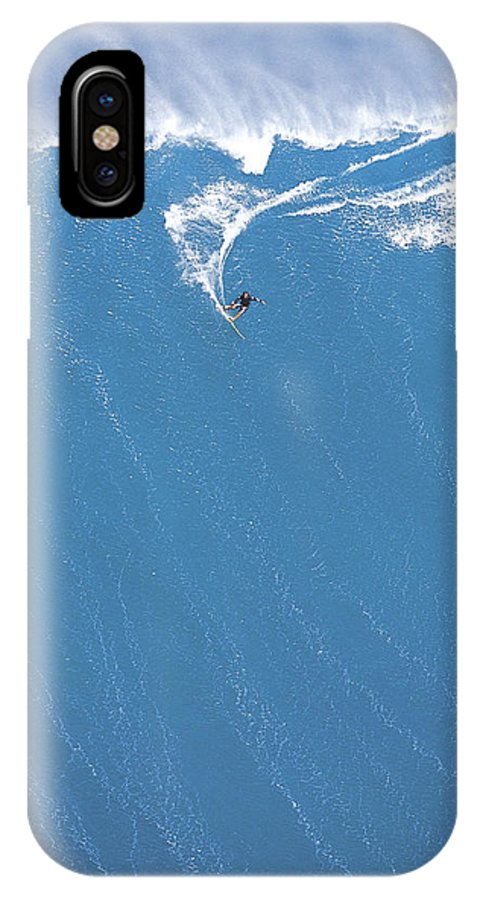 Surf Big Wave IPhone X Case featuring the photograph Power Turn by Sean Davey
