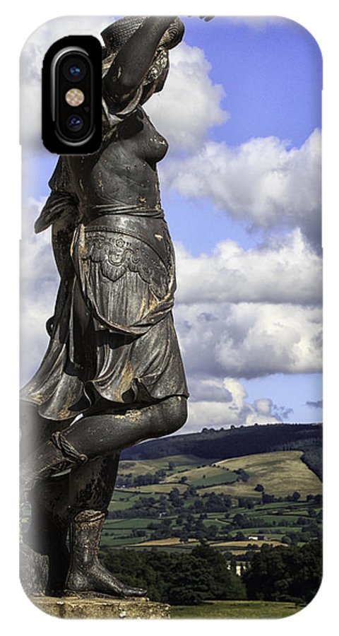 Wales IPhone X Case featuring the photograph Powis Castle Statuary by Fran Gallogly