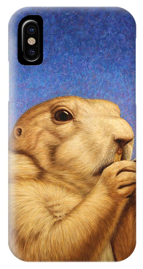 Prairie Dog IPhone X Case featuring the painting Prairie Dog by James W Johnson