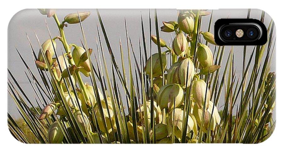 Flowers IPhone X Case featuring the photograph Prairie Lights by David Pennington Sr