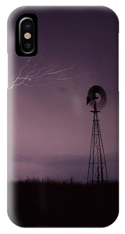 Landscape IPhone X Case featuring the photograph Prairie Storm by Gordon Collins